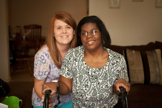 Home Care Aide with Client