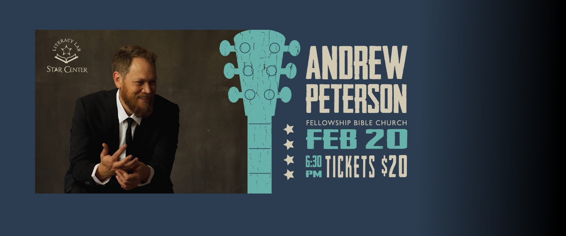 Andrew Peterson Feb 20 630PM Tickets $20